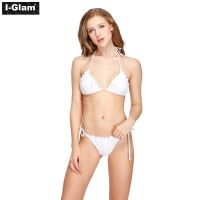 I-Glam White Two Piece Sexy Women Brazilian Bikini Swimwear