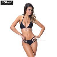 I-Glam Black Two Piece Sexy Women Brazilian Bikini Swimwear