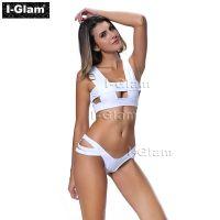 I-Glam White Sexy Two Piece Women Brazilian Bikini Swimwear