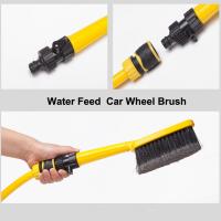 Water feed car wheel wash brush