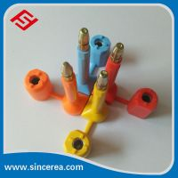 one-time use cap plastic lock anti tamper evident stainless steel custom truck high security container bolt lead seal