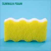 Sunway Wholesale Customized Color  complex Sponge with scouring pad