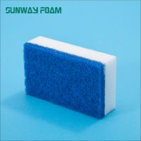 Sunway Wholesale high density  complex Sponge with scouring pad