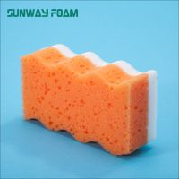 Sunway Wholesale  complex colorful melamine Sponge with PU