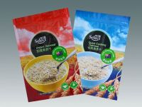 Oats, cereal outer packaging stand-up zipper pouch