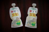 Bean juice, soybean milk, coconut milk packaging custom-shaped stand up spout pouch