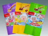 Chocolate snack bar packaging centre-seal side gusset pouch Product Number