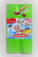 Egg roll, jam-filled inflated snack packaging centre-seal side gusset pouch