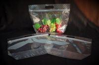 Cherries, grapes, fresh fruits sales packaging flat bottom slider zipper bag