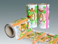 Chocolate filling biscuits, cream filling cookies automatic packaging film in roll