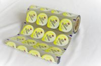 Pudding, jelly cup top web continuous automatic packaging lidding film in roll