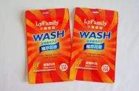 Laundry detergent sheets packaging sides-seal zipper pouch