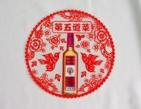 Liquor drinks promotion shaped sticking window poster