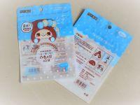 Hair roller, hair pin individual packaging matt effect sides-seal zipper pouch