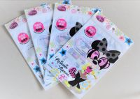 Facial cleaning pad individual packaging matt sides-seal zipper pouch