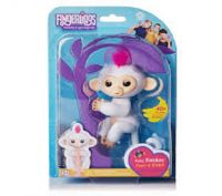 AVAILABLE IN NEW STOCK Fingerlings Baby Interactive Monkey BELLA PINK 40 Sounds