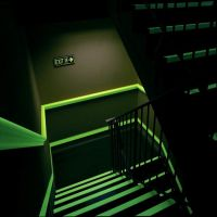Conspicuity Glow in the Dark Luminescent Film for Emergency Exit Signs
