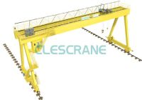 double girder gantry crane with heavy duty winch for construction