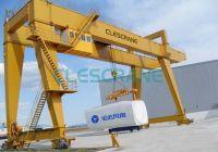 double girder gantry crane with heavy duty winch