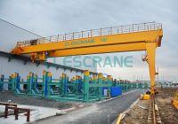 Clescrane 1-320t semi-gantry track travelling crane