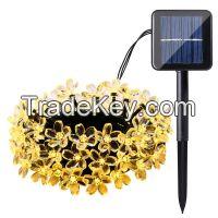 Solar String Lights 50 Led Blossom Flower