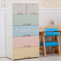 Kids Plastic Wardrobe Baby Plastic Storage Drawers Cabinet
