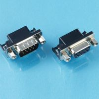 D-sub connector with 9 15 25 37 contacts male and female solder dip right angle idc type