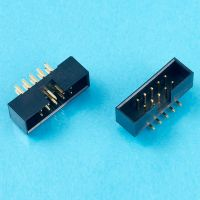 High quality 1.27mm 2mm 2.54mm pitch ejector header and box header with 6-64 straight right angle smt type pins