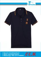 Customized promotional polo shirts with embroidered logo
