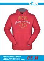 Customized men's pull over fleece hoodies