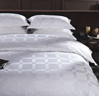 Bleached white hotel bedding set