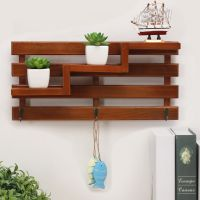 high quality solid wooden wall hanger for decoration
