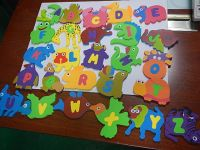 EVA foam numbers sea animals shape baby kids bath toy