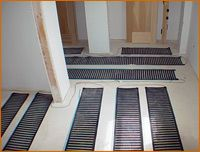 Electric floor heating system