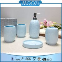 private label home decor oem service ceramic bathroom set