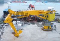 Low Cost Heavy Knuckle Boom Lift In Marine Crane With Extended Jib