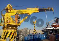 Long Range Telescopic Boom Marine Crane Pedestal Crane