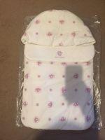 Young Versace Ivory & Purple Pink Medusa Baby Nest Sleeping Bag