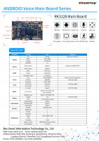 RK3128 Android AI Main Board for Robot/HIFI speaker/advertising machine/OTT