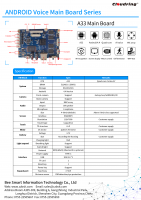 A33 Android AI Main Board for Robotic/HIFI Speaker/OTT/TABLET