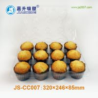 PET plastic muffin 12pcs cupcake packaging with dividers