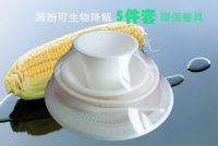 Biodegradable Lunch Box Disposable Cornstarch/fast food Container/Takeaway Packing