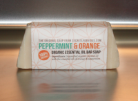 Peppermint & Orange Organic Essential Oil Bar Soap