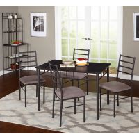 Liv 5-Piece Liv Dining Set, Black/Gray