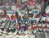 Purses and souvenirs of sheepskin peruvian handicraft
