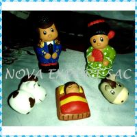 Births and Christmas decorations handmade in clay