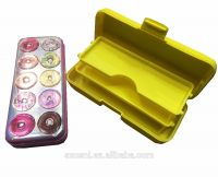 School stationery customized kawaii 3 layers hard plastic pencil case