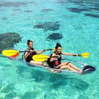 ocean touring plastic Fishing clear transparent kayak glass bottom boats for sale