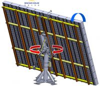 concentrated photovoltaic CPV Solar Tracking System Dual Axis Tracker for CPV with factory price