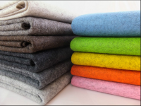 100% colorful wool felt fabric manufacture